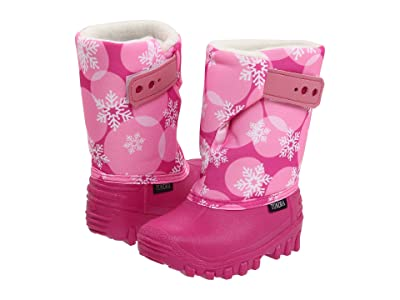 Tundra Boots Kids Teddy 4 (Toddler/Little Kid) (Fuchsia/Pink Flakes) Girls Shoes