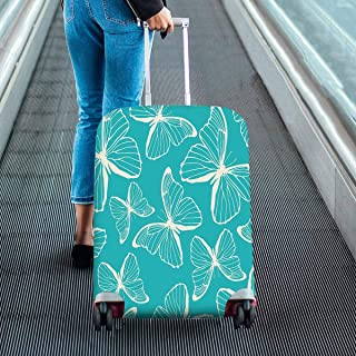 Suitcase Protectors colorful hand drawn outline-butterfly Dust Proof Luggage Covers Fit 18-28 Inch Luggage