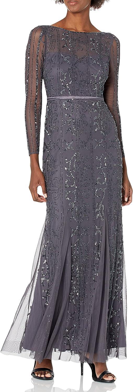Adrianna Papell womens Beaded Long Dress