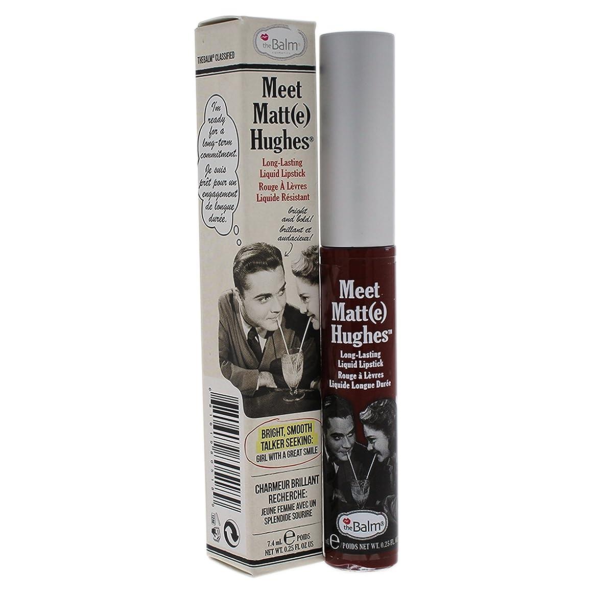 宣伝スクレーパーボックスザバーム Meet Matte Hughes Long Lasting Liquid Lipstick - Adoring 7.4ml/0.25oz並行輸入品
