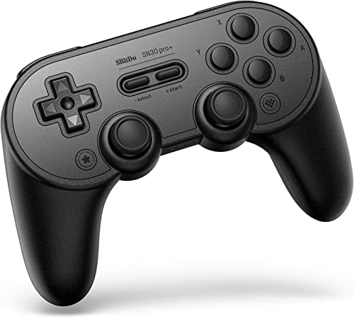 8Bitdo Sn30 Pro+ Bluetooth Controller Wireless Gamepad for Switch, PC, macOS, Android, Steam and Raspberry Pi (Black ...
