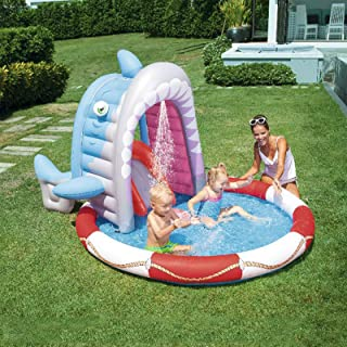 Inflatable Swimming Pool, Shade Fountain, Water Play Center, Environmentally Friendly PVC Material, Convenient Storage, Su...