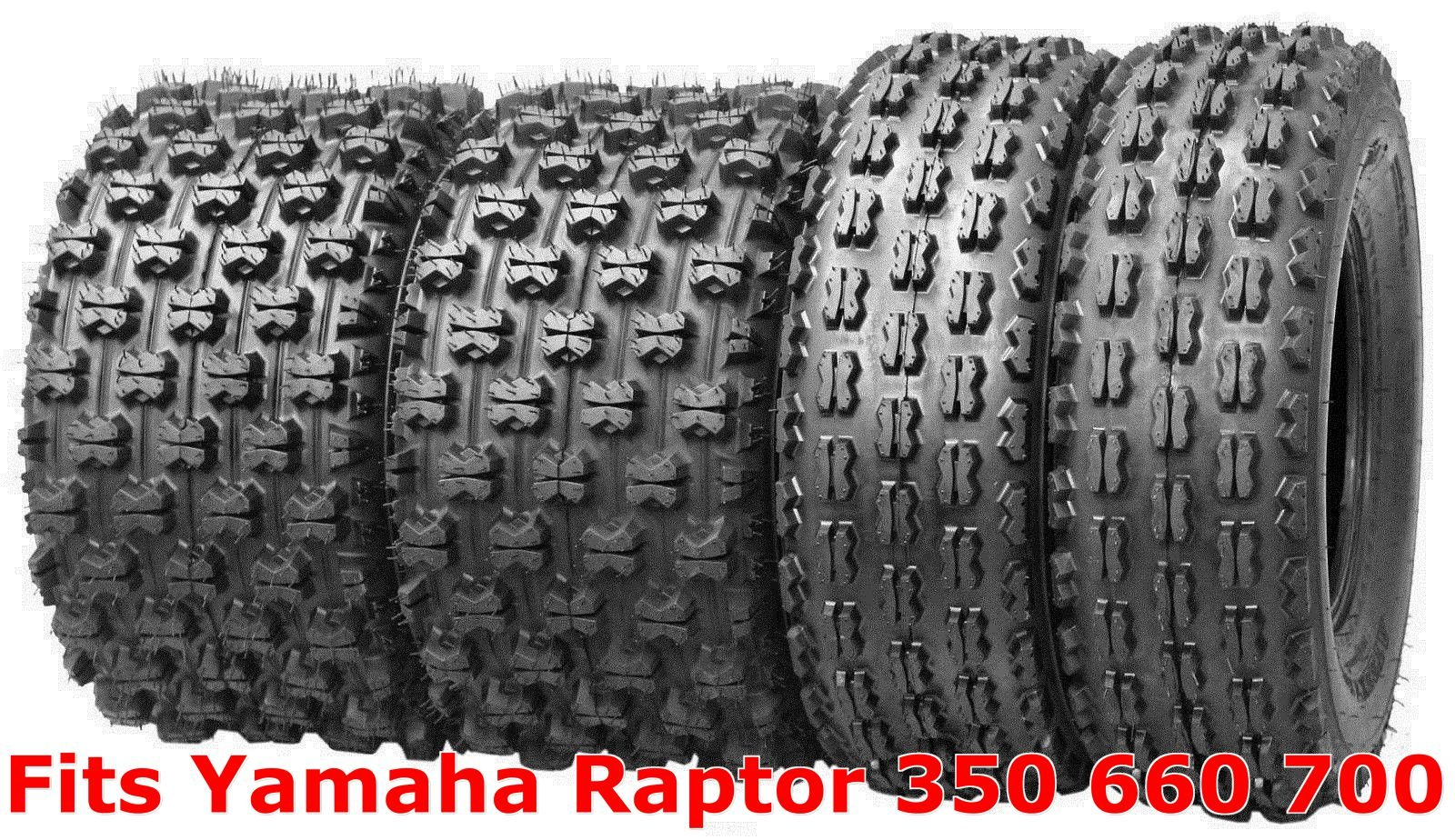 20X10-9 MASSFX ATV TIRES FULL COMPLETE SET 21X7-10 YAMAHA 700R RAPTOR