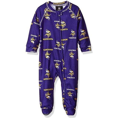 c565a736e NFL Unisex-Baby Newborn & Infant Raglan Zip Up Coverall