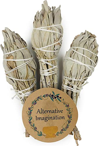 lowest Premium outlet online sale Torch wholesale Style California White Sage 4 Inch Smudge Sticks. Package of 3. outlet sale