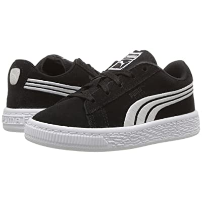Puma Kids Suede Classic Badge (Toddler) (Puma Black/Puma White) Boys Shoes
