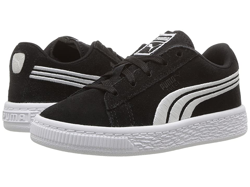 Puma Kids Suede Classic Badge (Toddler) (Puma Black/Puma White) Boys Shoes