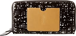 Orla Kiely - Texture Stem Leather Big Zip Wallet
