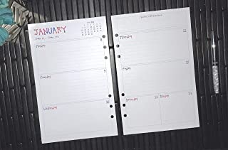2019 2020 2021 2022 2023 Daily A5 Planner Inserts, Paper Refills for Filofax, Kikki K, Mulberry, Webster's, Simple Stories, Day Timer, Day Designer and Half Letter Size 5.8