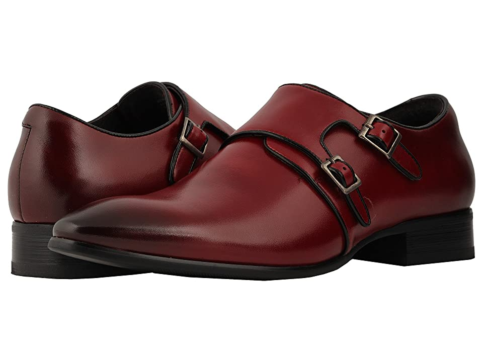 Stacy Adams Vance Plain Toe Double Monkstrap (Cinnamon/Black) Men