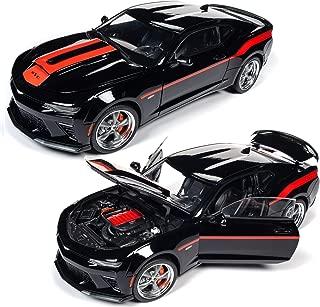 Autoworld AW257 2018 Chevrolet Camaro Coupe (Yenko) Mosaic Black w/Red Stripes Diecast Car 1:18