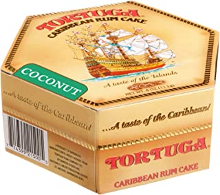 TORTUGA Caribbean Coconut Rum Cake - 4 oz Rum Cake - The Perfect Premium Gourmet Gift for Gift Baskets, Parties, Holidays,...