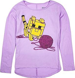 Minecraft Big Girls Baby Ocelot and Yarn Long Sleeve Tee