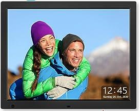 Cytem 15 Zoll Digitaler Bilderrahmen | 4:3 HD-IPS Display (1024x720) | Bewegungssensor | Transparente Datum-Uhr | korrekte...