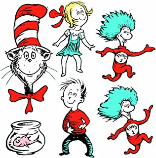 Eureka Back to School Dr. Seuss The Cat in The Hat Classroom Decorations for Teachers, 6pc