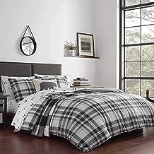 Eddie Bauer Coal Creek Plaid King Grey Comforter Set,