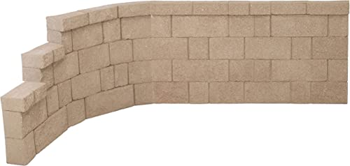 popular FiberBloxx new arrival 2-Piece Fiberglass Landscape Retaining Wall, 5-Foot Straight Panel and high quality 57-Inch Left Curve Panel online