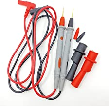 Multimeter Test Leads with Alligator Clips - Sharp Gold Plated Multimeter Leads - Needle Point Electrical Test Probe 20A 1...