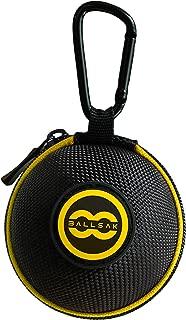 Ballsak Sport - Yellow/Black - Clip-on Cue Ball Case, Cue Ball Bag for Attaching Cue Balls, Pool Balls, Billiard Balls, Training Balls to Your Cue Stick Bag EXTRA STRONG STRAP DESIGN!