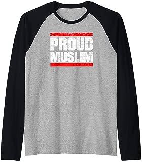Proud Muslim Muslima Arabic Culture Quran Sura Islam T-Shirt Raglan Baseball Tee