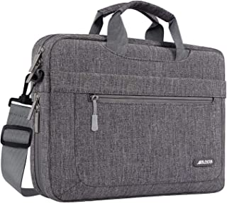MOSISO Laptop Shoulder Bag Compatible with 13-13.3 inch MacBook Pro, MacBook Air, Notebook Computer with Adjustable Depth at Bottom, Polyester Messenger Carrying Briefcase Handbag Sleeve, Gray