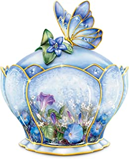 The Bradford Exchange Butterfly Floral Art Heirloom Porcelain Music Box: Whispering Wings