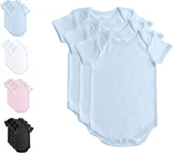 Baby Jay 3 PK Short Sleeve Onesies for Babies and Toddlers -Premium Soft Cotton Bodysuit -Boys and Girls