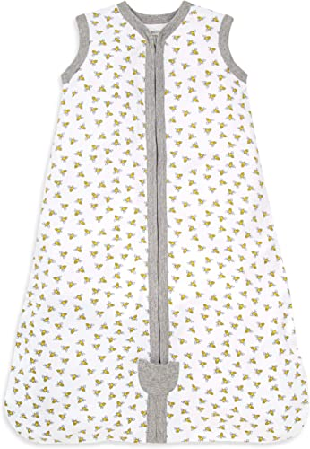Burt's Bees Baby Baby Beekeeper Wearable Blanket, 100% Organic Cotton, Swaddle Transition Sleeping Bag