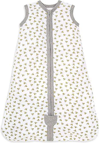 Burt's Bees Baby Baby Beekeeper Wearable Blanket, 100% Organic Cotton, Swaddle Transition Sleeping Bag