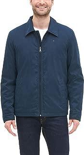 Men's Micro-Twill Open-Bottom Zip-Front Jacket