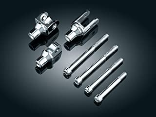 Kuryakyn 8006 Motorcycle Foot Control Component: Tapered Female Peg Adapters for Bullet Style Mounts, Chrome, 1 Pair