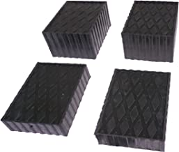 Auto Lift/Rolling Jack Rubber Block Pad Adapter Set of 4 (2-1 1/2