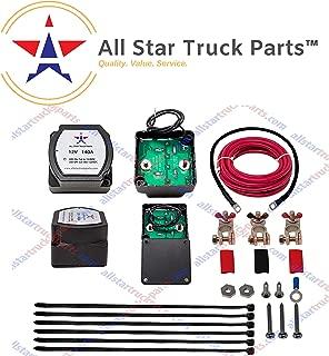[ALL STAR TRUCK PARTS] 12V 140 Amp Dual Battery Isolator - Voltage Sensitive Relay (VSR) Pro Dual Battery Kit)