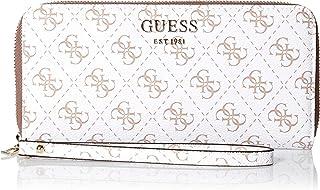 GUESS womens Logo Rock Large Zip Around Wallet