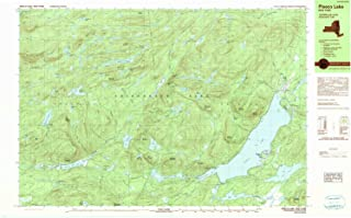 YellowMaps Piseco Lake NY topo map, 1:25000 Scale, 7.5 X 15 Minute, Historical, 1990, Updated 1990, 24 x 39 in