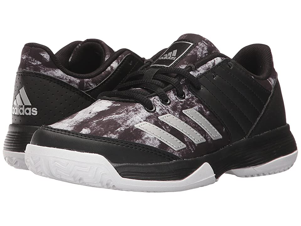 adidas Kids Ligra 5 Volleyball (Little Kid/Big Kid) (Black/White/Black) Kids Shoes
