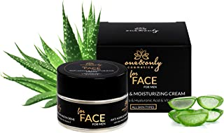 One&Only for Face Aloe Vera Cream for Men 50ml Crema Facial para Hombres Cosmética masculina Crema Hidratante Antiarrugas...
