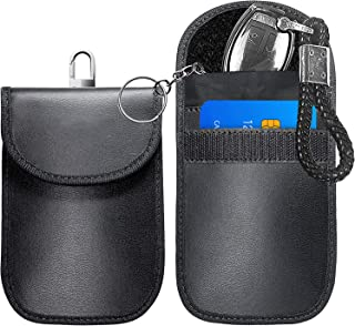 $150 » Faraday Bags, 2 Packs Durable Faraday Bag for Key Fob Faraday Cage Protector - Car RFID Signal Blocking, Anti-Theft Pouch...