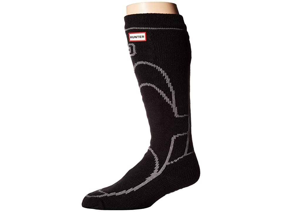 Hunter Original Boot Slipper Socks (Black) Crew Cut Socks Shoes