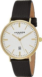 ساعة اكريبوس Xxiv للرجال كواترز انالوج بعقارب بسوار جلدي Ak935Yg ، بني