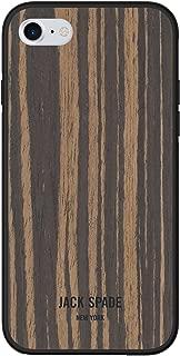 JACK SPADE Protective Wood Case for Apple iPhone 7 - Wood Veneer Macassar Ebony