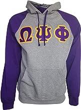 Mega Greek Mens Omega Psi Phi Color Block Hooded Sweatshirt X-Large Purple
