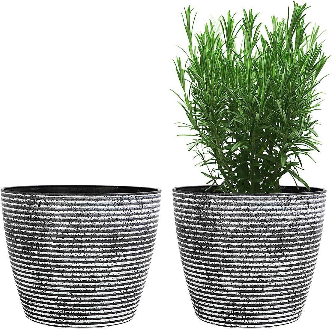 Buy Flower Pots, KOTAO Outdoor Indoor Garden Plant Pots with ...