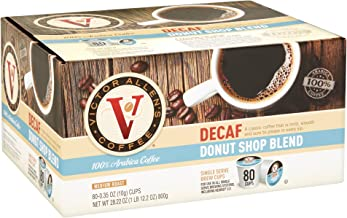 Decaf Donut Shop Blend for K-Cup Keurig 2.0 Brewers, 80 Count, Victor Allen's Coffee..