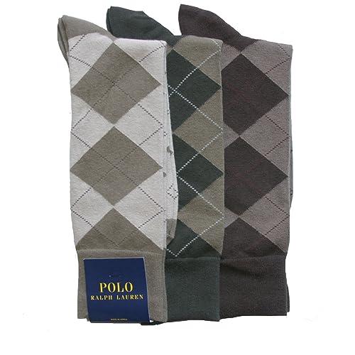 5c08a702146f4 Polo Ralph Lauren Men s Set of Three Argyle Dress Socks
