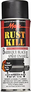 Majic 149368 8-2020-8 Rust Kill Spray Enamel, Barbeque Black, 12 oz