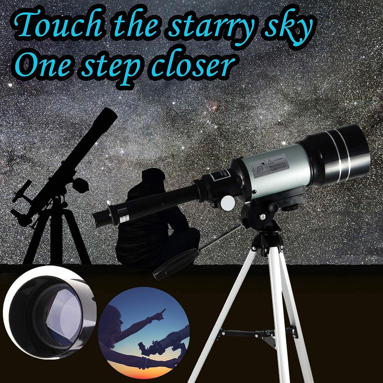 70mm Starter Scope with Tripod Telescope Professional Telescope for Viewing Planets Telescope for Kids Adults Astronomy Beginners 150X HD Refractor Telescope for Astronomy