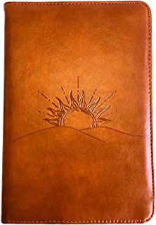 Sunrise Journal by SohoSpark, Writing Journal, Personal Diary, Lined Journal, Travel, 6x8.75 Notebook, Writers Notebook, Faux Leather, Refillable, Fountain Pen Safe, Lay Flat Binding