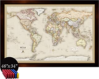 Best world map magnetic notice board Reviews