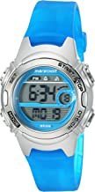 Marathon by Timex Women's TW5K96900 Digital Mid-Size Blue/Silver-Tone Resin Strap Watch